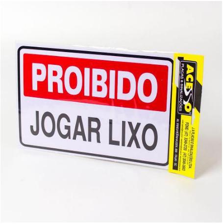 IMG_1963_PLACA PROIBIDO JOGAR LIXO REF P-10