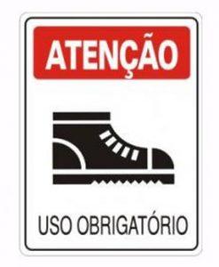 IMG_1977_PLACA USO OBRIGATORIO SAPATO SEGURANÇA REF S-204
