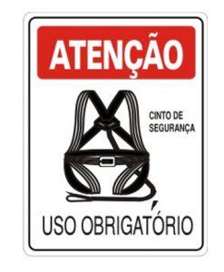 IMG_1980_PLACA USO OBRIGATORIO CINTO DE SEGURANÇA REF S-207