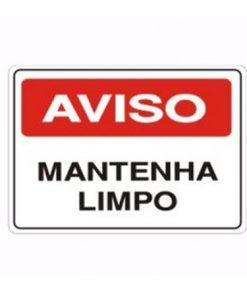 IMG_1987_PLACA MANTENHA LIMPO REF S-214